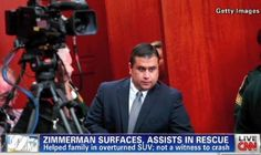 George Zimmerman rescues family after crash | AT2W