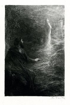 Étoile du Soir (1886), by Henri Fantin-Latour (1836-1904), from Act 3 of Tannhäuser (1845), by Richard Wagner (1813-1883).