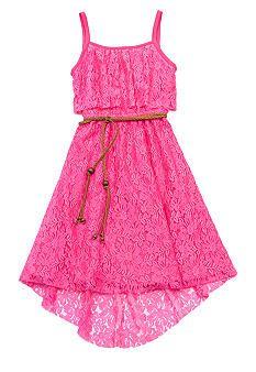 337c47e7460 Rare Editions Lace Belted Hi Low Hem Dress Girls 7-16 Middle School Dance  Dresses