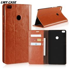 For Xiaomi Mi Max 2 Max2 6.44 inch Cow Leather Genuine Leather Cowhide Case Retro Wallet Flip Cover With Stand Holder #Affiliate