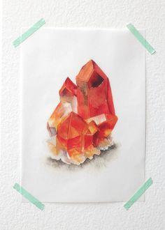 "Quartz-  5"" x 7"" Art Print on Vellum"