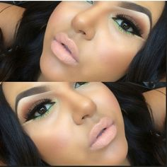 I love this however I'd skip the nude liner below the winged liner