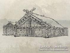 Реконструкции построек древней Ладоги