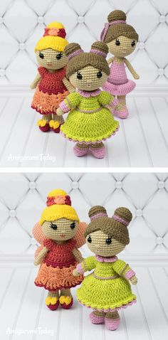 Little lady doll crochet pattern - Amigurumi Today Free Crochet Bag, Cute Crochet, Crochet For Kids, Knit Crochet, Crochet Patterns Amigurumi, Amigurumi Doll, Crochet Dolls, Knitting Patterns, Stuffed Animal Patterns