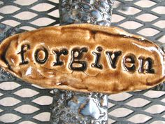 Forgiven Cross by carriewdesign on Etsy, $39.00