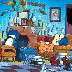 The best Sherlock ever. Fright Night, Animation, Hayao Miyazaki, Awesome Anime, Totoro, Sherlock Holmes, Anime Manga, Art Reference, Fan Art