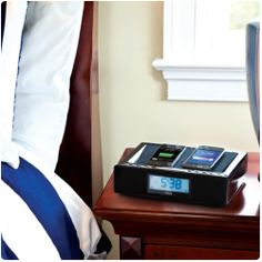 A cool way to charge his & hers gadgets on the nightstand...by RCA