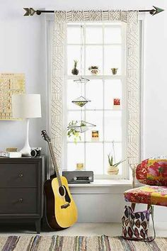 Craft Idea: Crocheted frames for around a window instead of a curtain