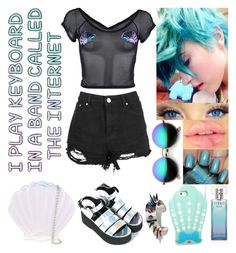 """""""Holographic Mermaid Chic"""" by sonnet-xo ❤ liked on Polyvore featuring Iron Fist, Forever 21, Skinnydip, Calvin Klein, Valfré, Revo and Joomi Lim"""