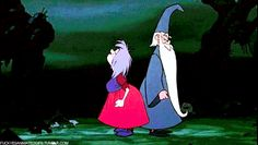 Merlin and Madam Mim - The Sword in the Stone #Disney #gif