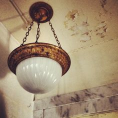 Interior features are intact, including this charming light fixture. Bellefontaine Ohio, Light Fixtures, Ceiling Lights, Lighting, Building, Interior, Home Decor, Decoration Home, Room Decor