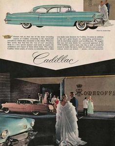 Exclusive venues frequented by the wealthy were shown along with 1956 Cadillacs.