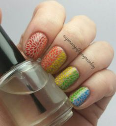 Rainbow stamping with Uber Chic Beauty plates