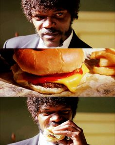 Jules and the big kahuna burger @ Pulp Fiction