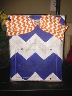 Chevron 5 x 7 Picture Frame by WhimsyGirlArt on Etsy