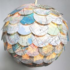 Map Pendant Shade now featured on Fab.
