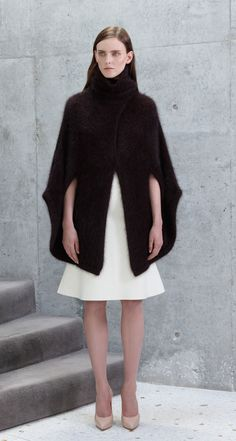 Scanlan Theodore Super Angora Coat and Wool Felt Peplum Skirt