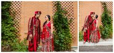 Bridal portraits after a traditional East Indian wedding ceremony in Calgary. Love the red! Photos by Sujata Photography.