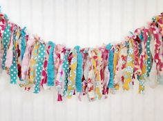 Fabric Garland Photography Prop  Wouldn't buy - bet it's not that hard to make.