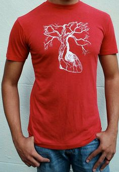 Mens Valentines day gift - Bamboo and Organic Cotton t-shirt by TheLotusRoot on Etsy, $32.00