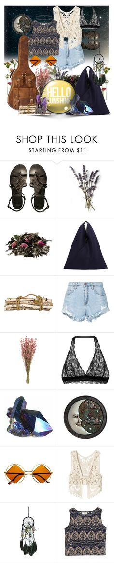 """""""hello sunshine"""" by iandcheshirecat ❤ liked on Polyvore featuring ASOS, French Kiss, MM6 Maison Margiela, Jayson Home, Nobody Denim, Cosabella, Grasslands Road, Retrò and American Rag Cie"""