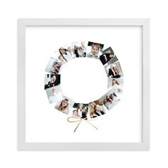 , Rosegold Custom Photo Art From Minted By Independent Artist Minted Called Holiday Wreath With Printing On In Rose Gold GCF. Frame Wall Collage, Wall Collage Decor, Photo Wall Decor, Photo Wall Collage, Family Picture Frames, Family Photo Collages, Family Collage, Matte Black, Foil Art