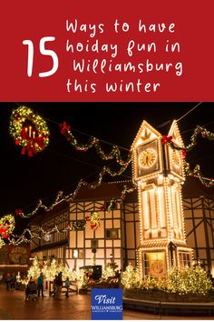 Holidays in Greater Williamsburg are an opportunity to have fun and create lasting memories. Here are several experiences to keep you jolly 'til the new year. Take to the road and stay as long as possible. Travel Tours, Travel Usa, Travel Europe, Travel Packing, Travel Backpack, Travel Ideas, East Coast Road Trip, Travel Flights, Woodworking Square
