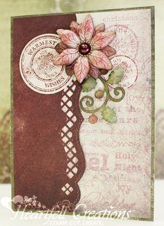 Linda Bontrager for Heartfelt Creations | Warmest Joy using the Joy of the Seasons collection; Sept 11, 2013
