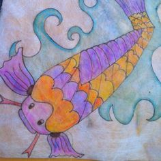 Koi art project for elementary school