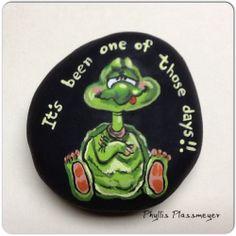 Turtle painted rock by Phyllis Plassmeyer