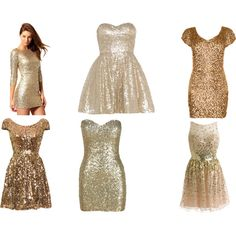Gold dresses for New Years Eve!