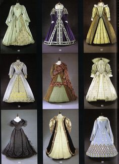 Collection of 16th Century gowns