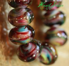 Kismet Silver round lampwork strand 20 Beads. Starting at $45 on Tophatter.com!