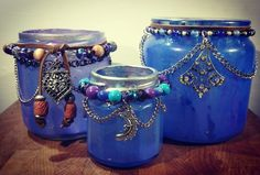 Boho Cosmic Candle Holders - Process video to follow