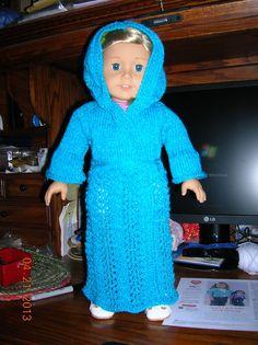 American Girl Doll Bathrobe pattern