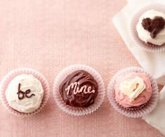 Mini cupcake messages for Valentine's Day!