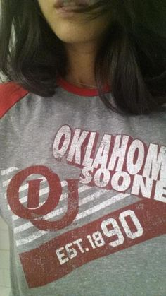 Olivia Munn wearing our Oklahoma Sooners shirt for #CollegeColorsDay today!  #BoomerSooner #OU