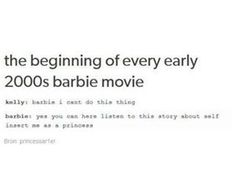 I was just talking about barbie movies earlier! Barbie Tumblr, Barbie Movies, Movie Memes, Funny Tumblr Posts, Me Too Meme, Dreamworks, Pixar, Awesome, Amazing