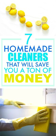 These 7 Easy Homemade Cleaners are SO GOOD! They've saved me SO MUCH money! I'm so happy I found this GREAT post! I'm definitely pinning this for later so I don't forget ANY of them!