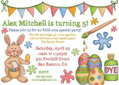 Easter birthday party birthday parties pinterest easter easter birthday party invitation printable by photogreetings filmwisefo
