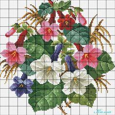 Resultado de imagen para pinterest ramos de flores bordados