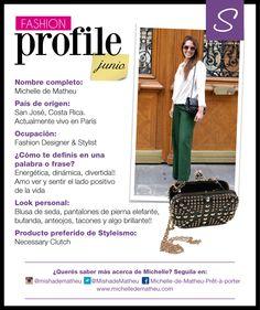 #FashionProfile de Junio: Conocé más sobre Michelle de Matheu, diseñadora y stylist costarricense
