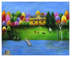 Pumpkin's Honeybear Cottage Giclée Archival by BriannasArtwork