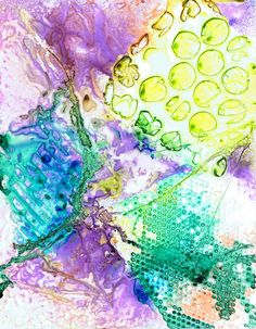 """Bubble 'N Ooze"" watercolor on yupo by Sharon Giles Bubble N, Watercolor Pictures, Journaling, Paintings, Abstract, Artwork, Summary, Work Of Art, Caro Diario"