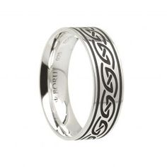 Celtic Waves Wedding Ring – Wide – Celtic Jewelry by Boru ® Irish Wedding Rings, Ring Shapes, Jewelry Rings, Silver Rings, Take That, Waves, Engagement Rings, Band, Sterling Silver