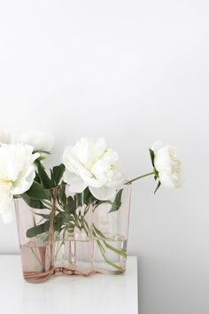 alvar aalto & white peonies Mehr The post alvar aalto Alvar Aalto, White Peonies, White Flowers, Beautiful Flowers, Marimekko, Flower Vases, Scandinavian Design, Modern Interior, Floral Arrangements