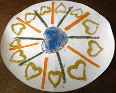 Decimo incontro di arte terapia  Titolo: il mandala dell'amore  E' stato realizzato utilizzando le sabbie colorate e altri materiali quali: gommini colorati, cartoncino, plastilina. (Il lavoro è in fase di esecuzione)