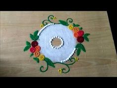 this rangoli is very very easy quick to draw.simple unique design of rangoli designed by me for everyone those who like rangoli to draw.this creative ra. Very Easy Rangoli Designs, Rangoli Designs Flower, Small Rangoli Design, Colorful Rangoli Designs, Rangoli Ideas, Rangoli Designs Diwali, Rangoli Designs Images, Beautiful Rangoli Designs, Simple Rangoli