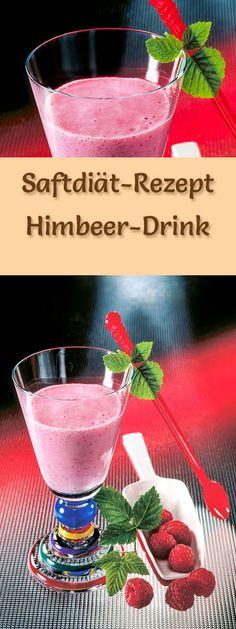 Saftdiät zum Abnehmen - 8. Rezept der Saftkur: Himbeer-Drink - entwässert, entschlackt und fördert den Fettabbau ...