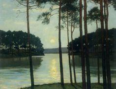Evening Mood at Schlactensee - Leistikow (German, 1865–1908)